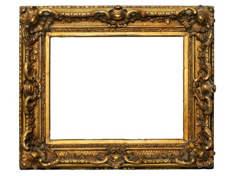 アート「ゴールド木製フレーム」:スマホ壁紙(5)