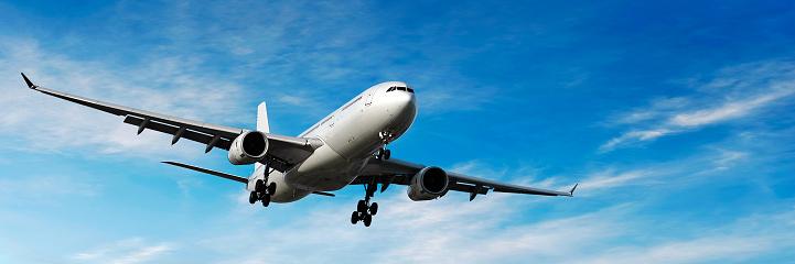 Approaching「jet airplane landing in bright sky」:スマホ壁紙(5)