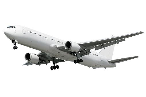 透明「XXL ジェット白い背景の上から着陸する飛行機」:スマホ壁紙(16)