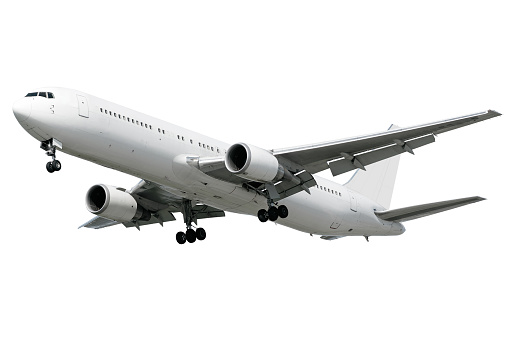 Commercial Airplane「XXL jet airplane landing on white background」:スマホ壁紙(11)