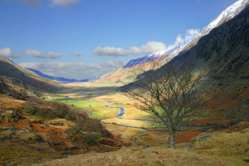 National Park「Patchy sunshine through Snowdonia landscape」:スマホ壁紙(7)