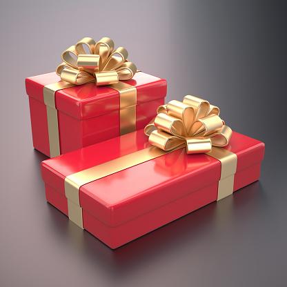 バレンタインデー「Red gifts with gold ribbon」:スマホ壁紙(13)