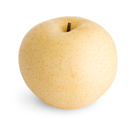 Pear「Juicy Isolated Asian Pear (including Clipping Path)」:スマホ壁紙(1)