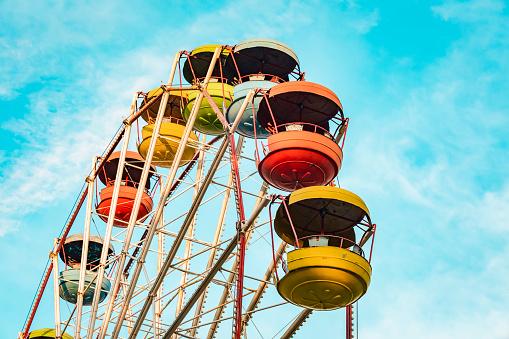 Ferris Wheel「Georgia, Kingdom of Imereti, Kutaisi, Multicolored ferris wheel」:スマホ壁紙(9)