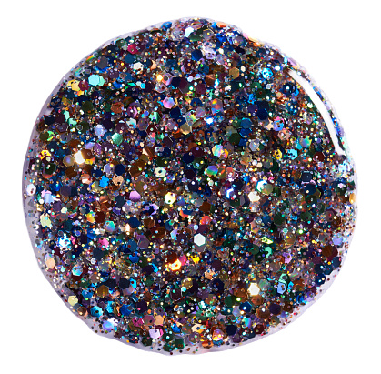 Blob「A close-up beauty image of multi-coloured glitter nail polish」:スマホ壁紙(14)