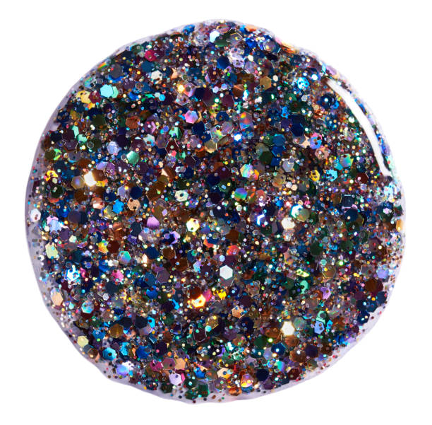 A close-up beauty image of multi-coloured glitter nail polish:スマホ壁紙(壁紙.com)