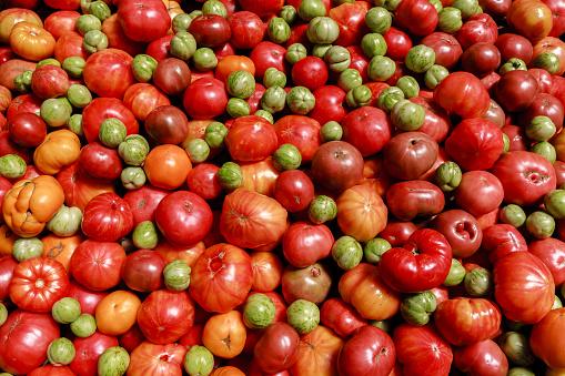 Vegetables「Tomatoes  and Tomatillos at Farmer's market」:スマホ壁紙(16)