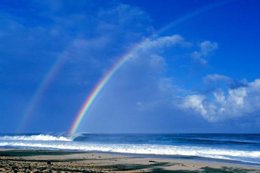 虹「米国ハワイ O'ahu 、レインボーには太平洋が広がっています。」:スマホ壁紙(1)
