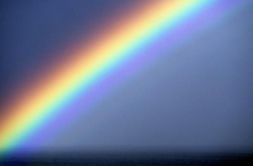 虹「米国ハワイ O'ahu 、ノースョア、レインボーます。」:スマホ壁紙(14)