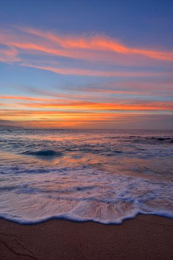 オアフ島「USA, Hawaii, Oahu, beach by sunset」:スマホ壁紙(11)