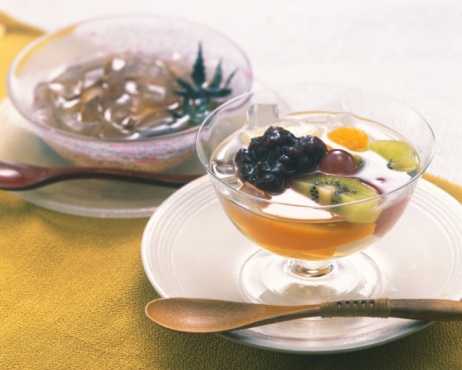 Wagashi「Chilled Dessert, High Angle View, Differential Focus」:スマホ壁紙(12)