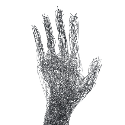 Human Hand「Wire mesh hand concept」:スマホ壁紙(9)