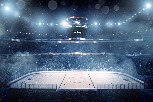 Skating「Dramatic ice hockey arena」:スマホ壁紙(18)