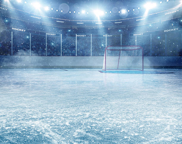 Dramatic ice hockey arena:スマホ壁紙(壁紙.com)