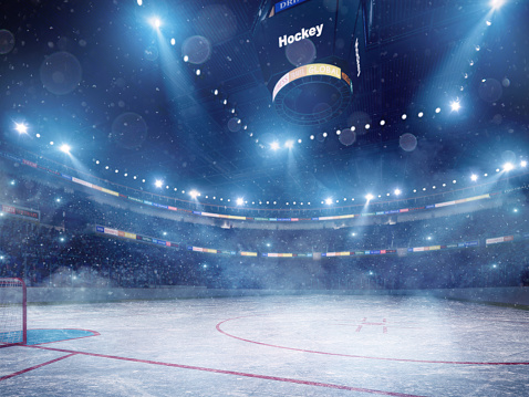 ������「Dramatic ice hockey arena」:スマホ壁紙(1)