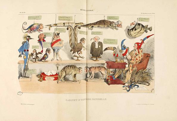 "Lithograph「Règne Animal (Animal Kingdom). From ""La Caricature""」:写真・画像(14)[壁紙.com]"