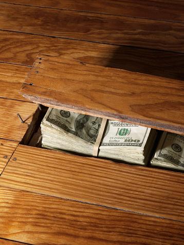 American One Hundred Dollar Bill「100 Dollar Bills Under Floor」:スマホ壁紙(15)