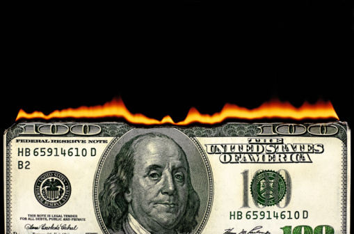 Money to Burn「100 dollar bill on fire」:スマホ壁紙(2)
