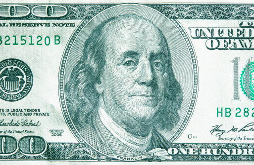 Formalwear「US 100 dollar bill, close-up」:スマホ壁紙(13)