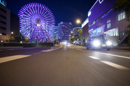 Yokohama「Night driving at Yokohama.」:スマホ壁紙(17)