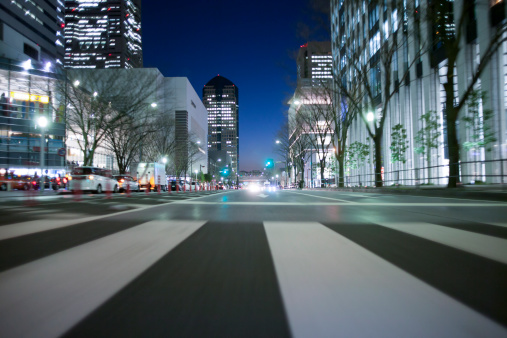 Crosswalk「Night driving at Yokohama.」:スマホ壁紙(2)