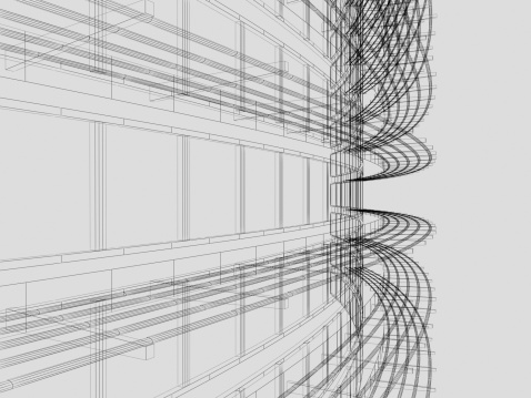 Housing Project「Wire Frame Architectural Background」:スマホ壁紙(6)