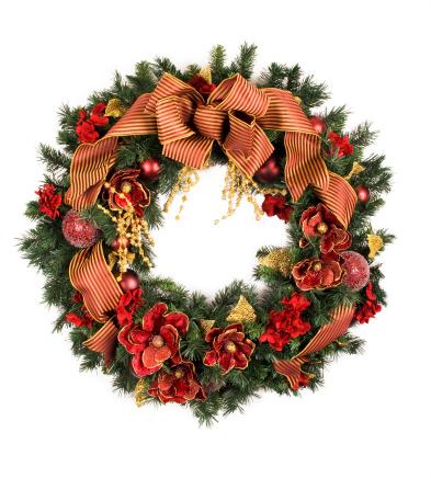 Gold Colored「Holiday wreath」:スマホ壁紙(12)