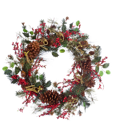 Pine Cone「Holiday Wreath (XXL)」:スマホ壁紙(3)
