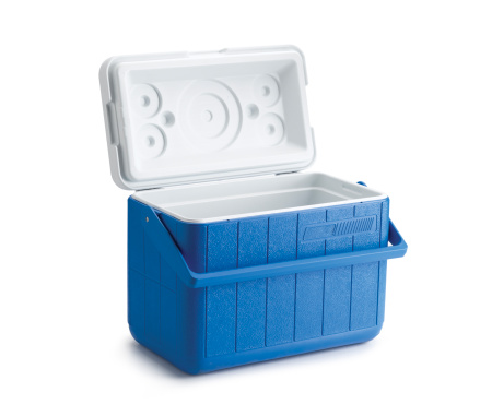 Cooler - Container「open blue cooler on white background」:スマホ壁紙(7)