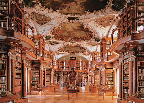 Switzerland「Monastery library」:写真・画像(4)[壁紙.com]