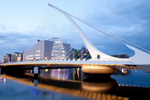 Dublin - Republic of Ireland「Samuel Beckett Bridge」:スマホ壁紙(2)