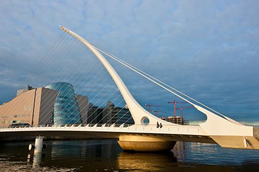 Liffey River - Ireland「Samuel Beckett Bridge, over the Liffey River, Dublin, Ireland」:スマホ壁紙(18)