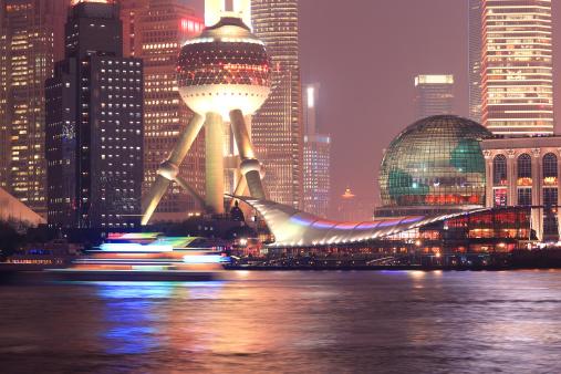 Multiple Exposure「Shanghai Pudong night, closeup」:スマホ壁紙(6)
