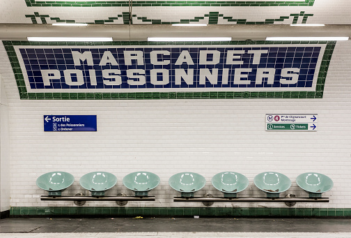 Subway Station「Marcadet Poissonniers Metro station」:スマホ壁紙(8)