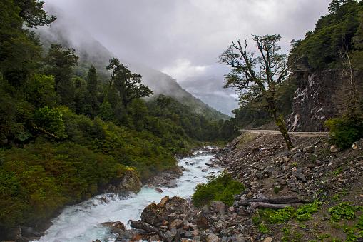 cloud「River running next to Carretera Austral, Los Lagos Region, Chile」:スマホ壁紙(13)