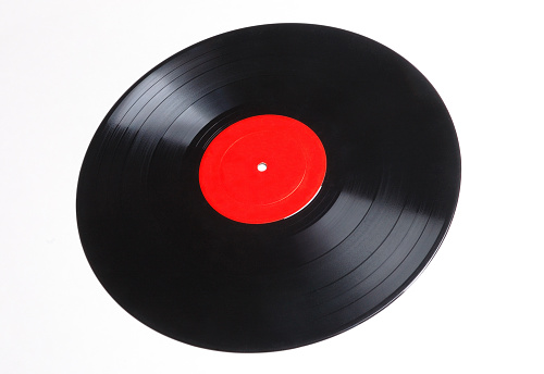 Rock Music「Graphic image of an old vinyl record with red label」:スマホ壁紙(1)