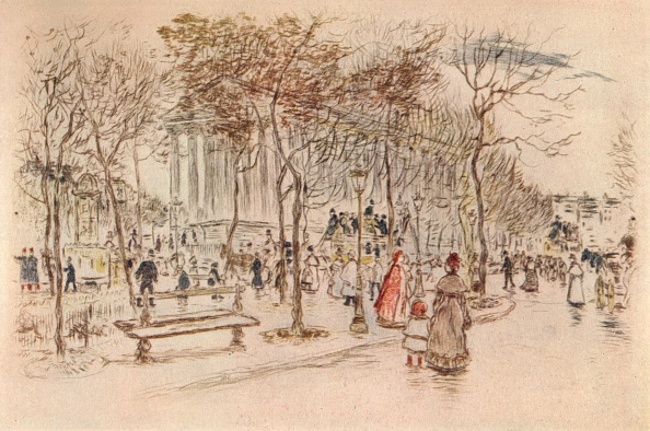 Bench「'Place de la Madeleine', 1915」:写真・画像(6)[壁紙.com]
