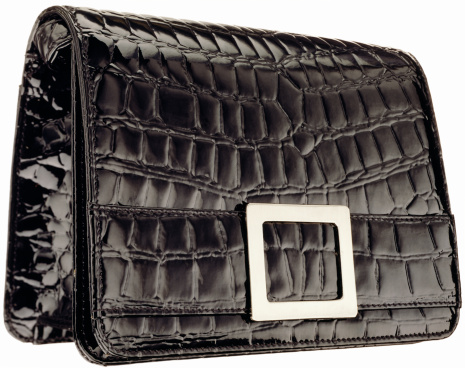 Clutch Bag「A black vintage patent leather alligator clutch」:スマホ壁紙(18)