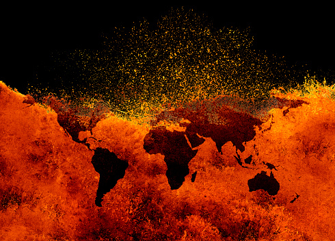 Volcano「global warming」:スマホ壁紙(10)