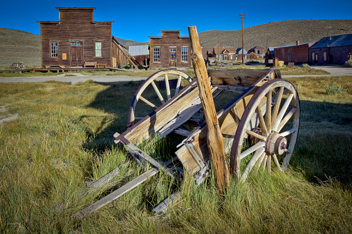 Morgue「Wagon and Buildings in Bodie Ghost Town」:スマホ壁紙(7)