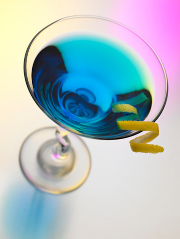 Martini「Blue Martini on a colorful background」:スマホ壁紙(6)