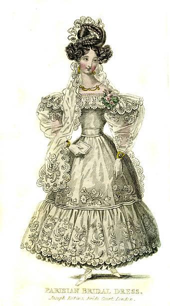 Parisian bridal  dress from 1830:ニュース(壁紙.com)
