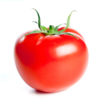 Tomato「Fresh tomato, isolated on white background」:スマホ壁紙(17)