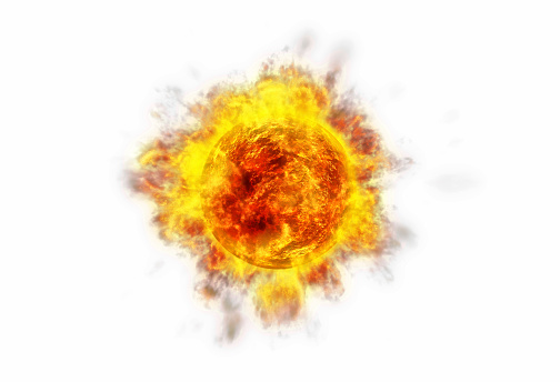 Erupting「Active Sun white」:スマホ壁紙(14)
