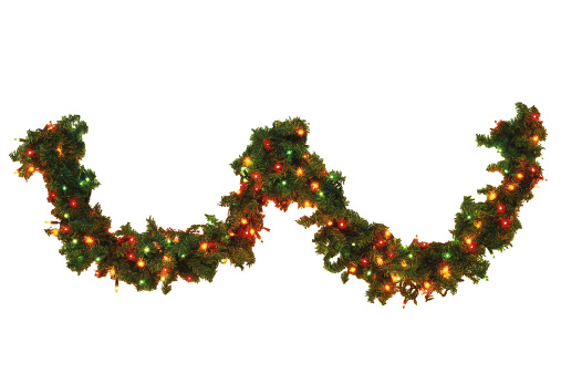 Floral Garland「Pine swag with colorful ornaments」:スマホ壁紙(5)