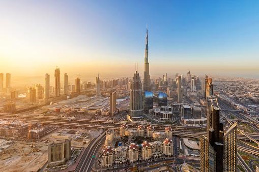 Burj Khalifa「Dubai at sunrise form 79th floor」:スマホ壁紙(16)