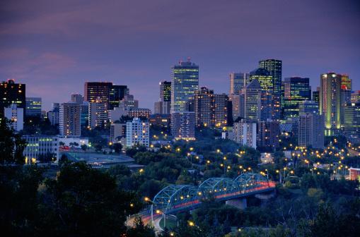 Edmonton「Edmonton at Night」:スマホ壁紙(18)