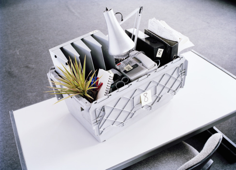 Desk Lamp「Moving box filled with office equipment on desk, elevated view」:スマホ壁紙(16)