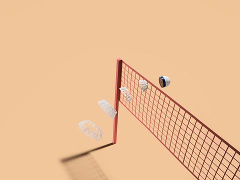 Cross Section「Sliced shuttlecock launches over net」:スマホ壁紙(15)