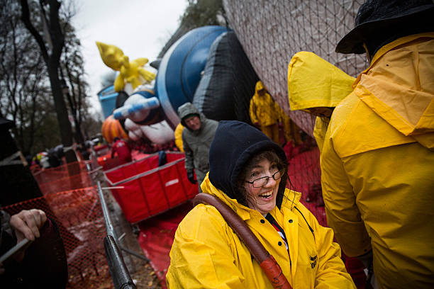 Macy's Balloon Floats Inflated Ahead Of Annual Thanksgiving Parade:ニュース(壁紙.com)